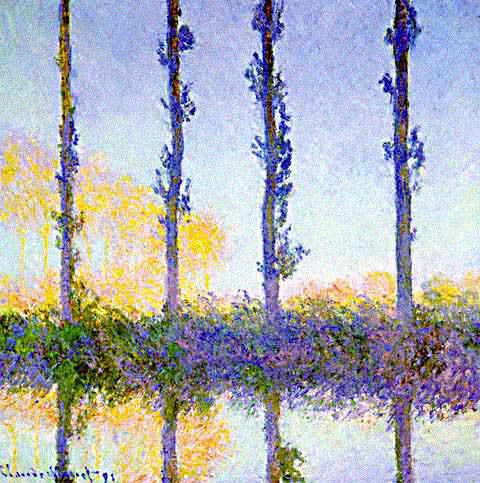 Claude Monet-Four Poplars