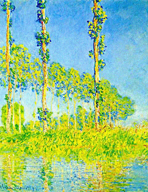 Claude Monet-Poplars In Green and Blue