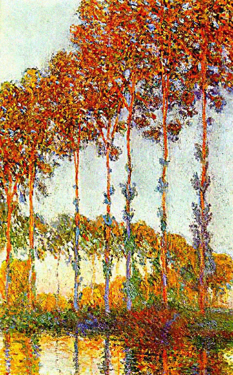 Claude Monet-Poplars Late Afternoon