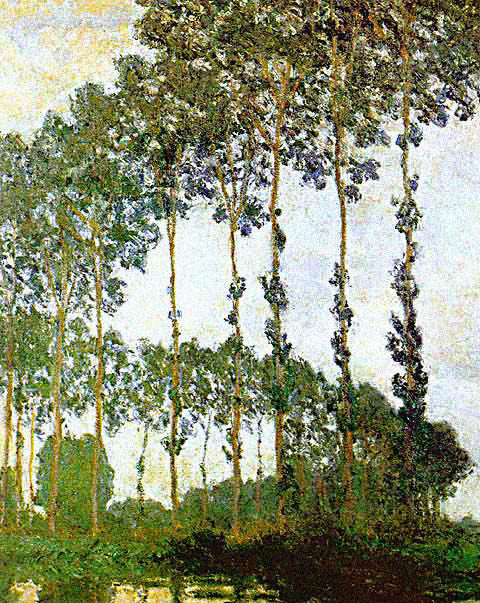 Claude Monet-Poplars Near Giverny
