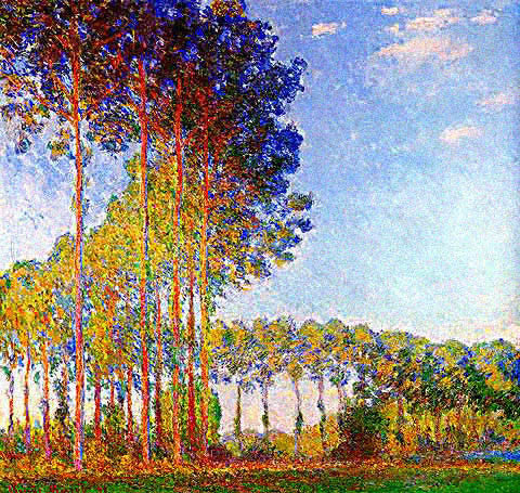 Claude Monet-Poplars on the Bank of the Epte