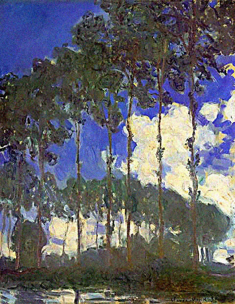 Claude Monet-Poplars on the Banks of the River Epte