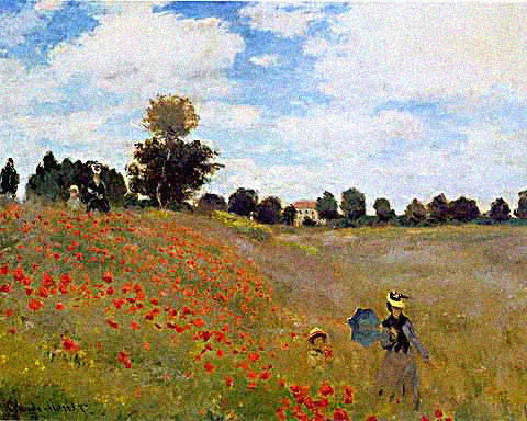 Claude Monet-Poppies at Argenteuil