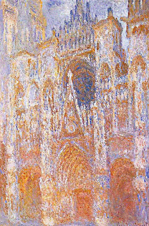 Claude Monet-Portal Harmony in Blue
