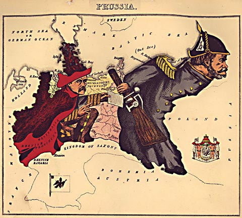 Unknown Artist-Prusia Caricature Map