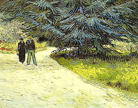 Vincent Van Gogh-Public Garden With Couple