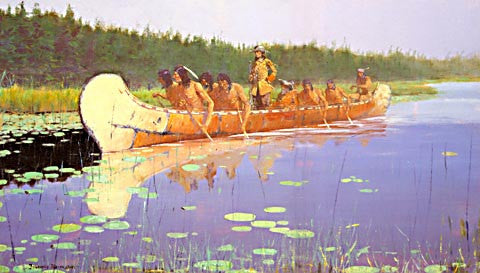 Frederic Remington-Radisson And Groseilliers