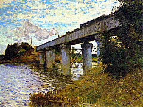 Claude Monet-Railroad Bridge at Argenteuil