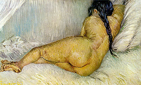 Vincent Van Gogh-Reclining Nude Seen From The Back