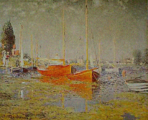 Claude Monet-Red Boats 1875