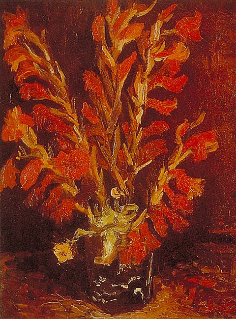 Vincent Van Gogh-Red Gladioli 1886