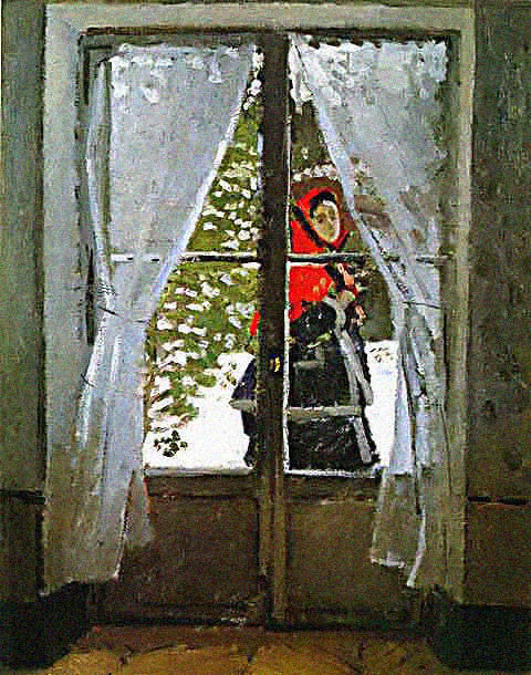 Claude Monet-Red Hood Madame
