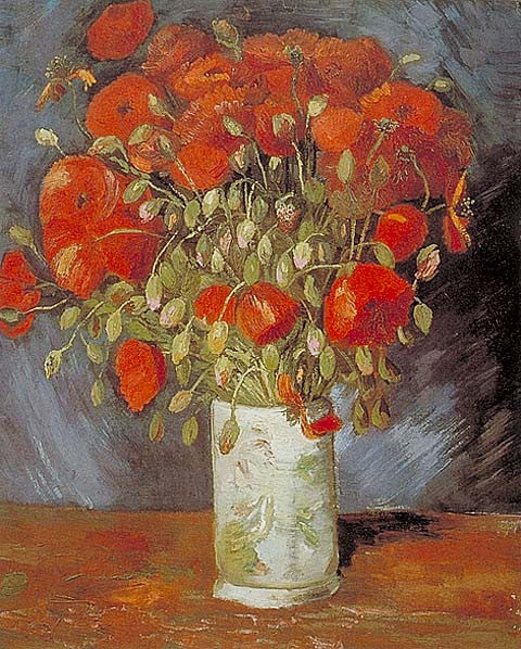 Vincent Van Gogh-Red Poppies 1886