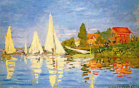 Claude Monet-Regatta at Argenteuil