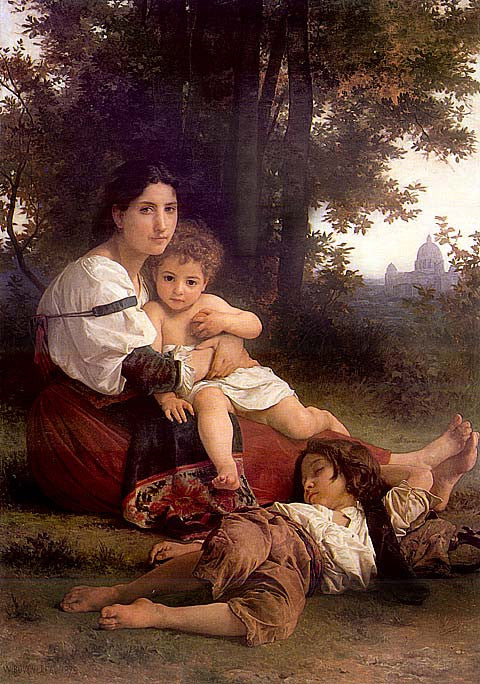 William Adolphe Bouguereau-Rest