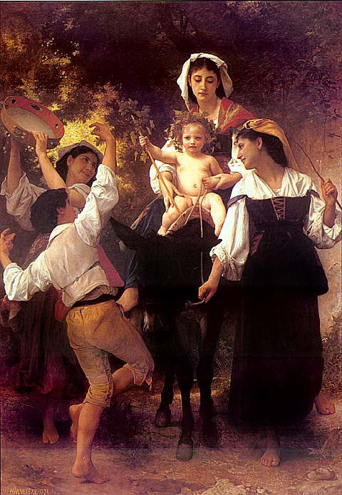 William Adolphe Bouguereau-Return From The Harvest