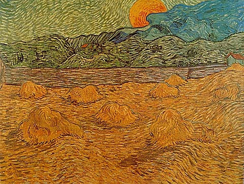 Vincent Van Gogh-Rising Moon 1889