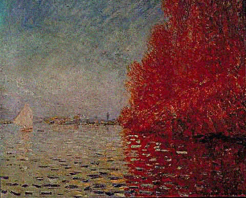Claude Monet-River Seine Autumn 1874