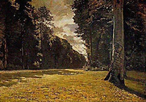 Claude Monet-Road From Chailly 1865