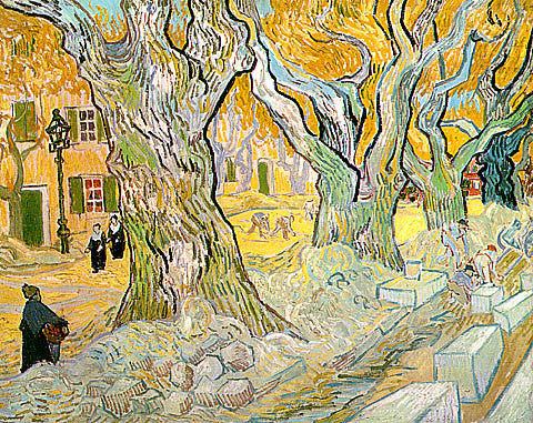 Vincent Van Gogh-Road Menders In A Lane With Plane Trees