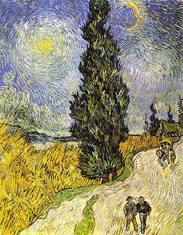 Vincent Van Gogh-Road With Men Walking