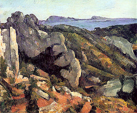 Paul Cezanne-Rocks At LEstaque