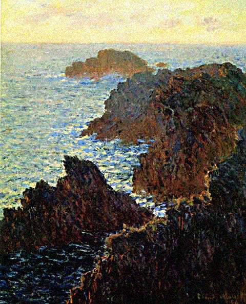 Claude Monet-Rocky Headland at Belle Ile