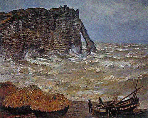 Claude Monet-Rough Sea 1883