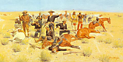 Frederic Remington-Rounded Up