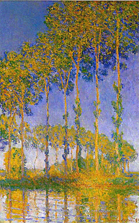 Claude Monet-Row of Poplars