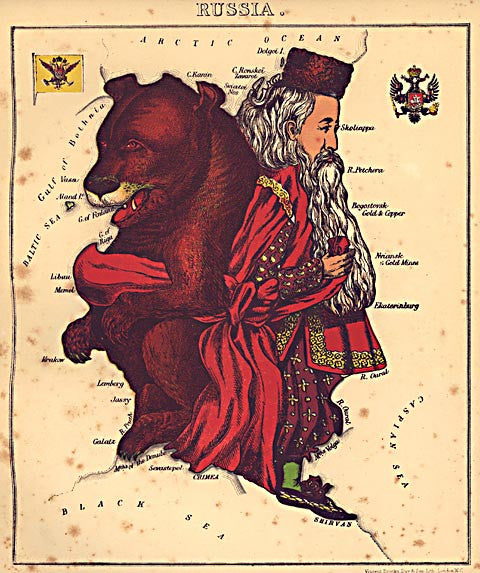 Unknown Artist-Russia  Caricature Map
