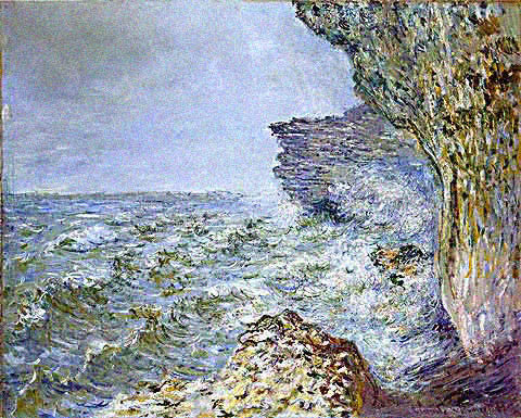 Claude Monet-Sea at Fecamp