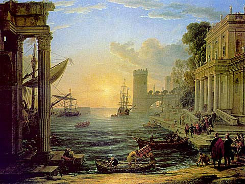 Claude Lorrain-Seaport With The Embarcation Of The Queen Of Sheba