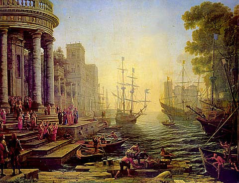 Claude Lorrain-Seaport With The Embarkation Of St Ursula