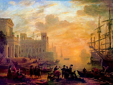 Claude Lorrain-Seaport With The Setting Sun
