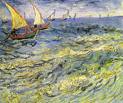 Vincent Van Gogh-Seascape At Saintes Maries