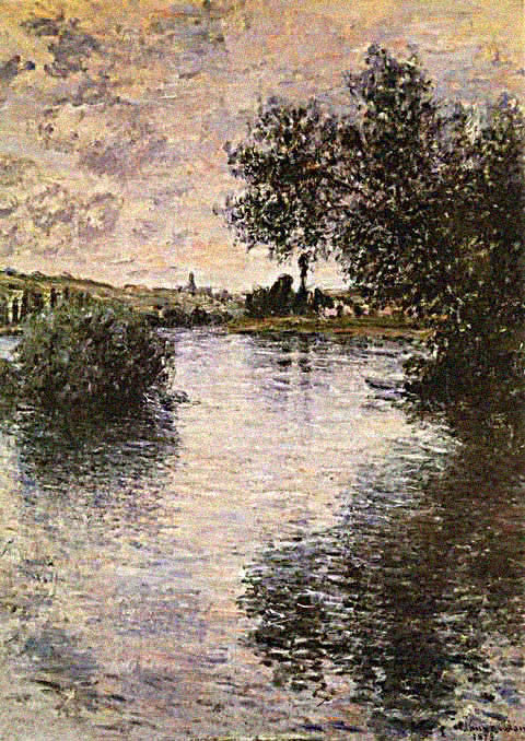 Claude Monet-Seine at Vetheuil