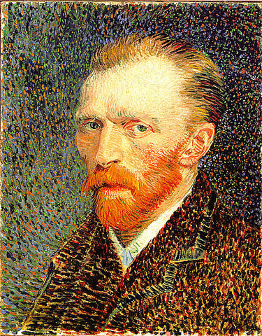 Vincent Van Gogh-Self Portrait With Brown Suit