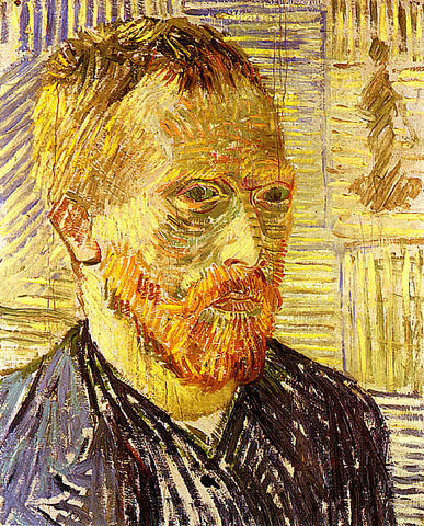 Vincent Van Gogh-Self Portrait With Grey Suit