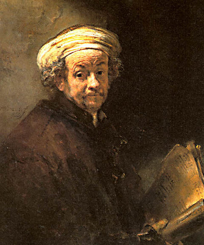 Rembrandt-Self Portrait As The Apostle Paul