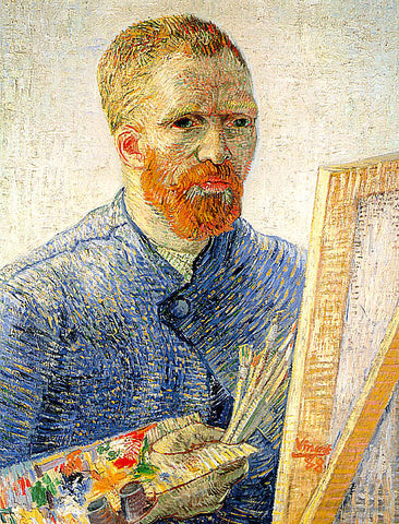 Vincent Van Gogh-Self Portrait In Front Of The Easel
