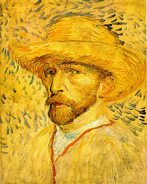 Vincent Van Gogh-Self Portrait With Straw Hat