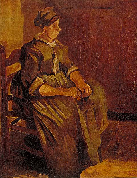 Vincent Van Gogh-Sitting 1885