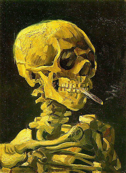 Vincent Van Gogh-Skull With Cigarette