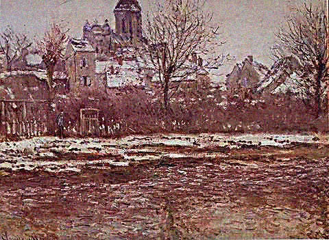 Claude Monet-Snow Effect at Vetheuil 1883