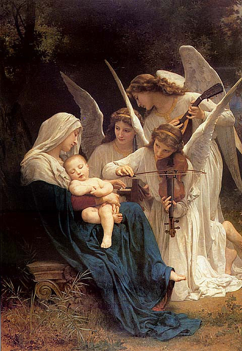 William Adolphe Bouguereau-Song Of The Angels