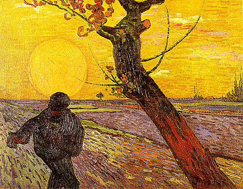 Vincent Van Gogh-Sower With Setting Sun And Tree