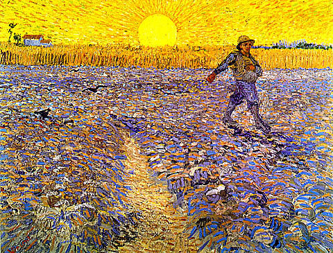 Vincent Van Gogh-Sower With Setting Sun