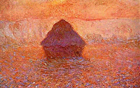 Claude Monet-Stack of Wheat Sun in the Mist