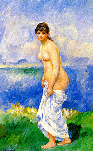 Pierre Auguste Renoir-Standing Bather